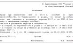 Заявление на декретный отпуск: образец 2019 года