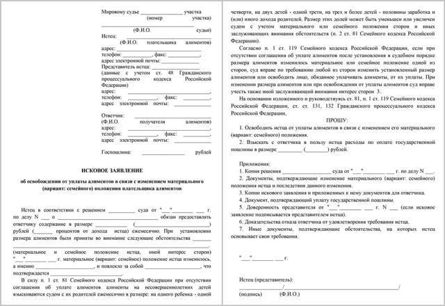 Освобождение от уплаты алиментов: список ситуаций