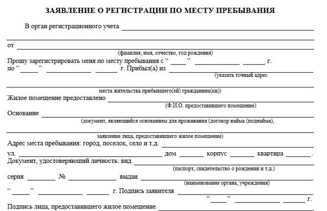 Как собственнику составить заявление на прописку гражданина