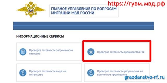 Проверка готовности гражданства РФ