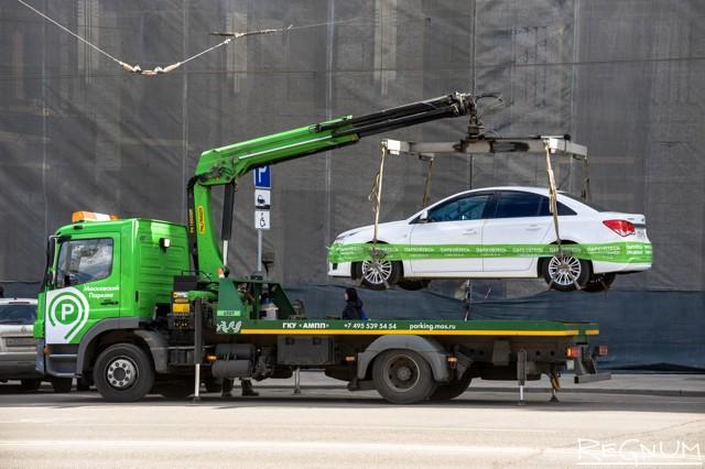 Эвакуация автомобиля: штрафы и правила