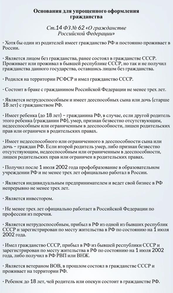 Получение гражданства РФ для граждан Украины в 2019 году
